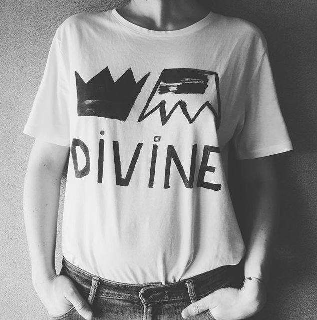 ana deman, t-shirt, divine, france, fashion, blanc, été