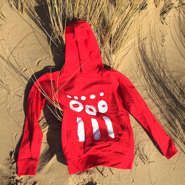 ana deman, sweatshirt, rouge, amour, fashion, coton bio