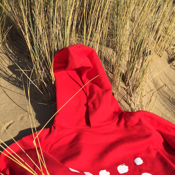 ana deman, rouge, sweatshirt