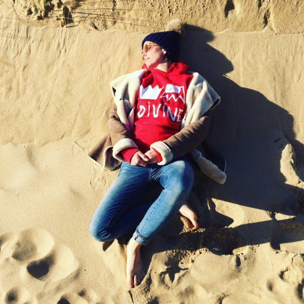 sweatshirt, rouge, divine, made in france, ana deman, vêtement