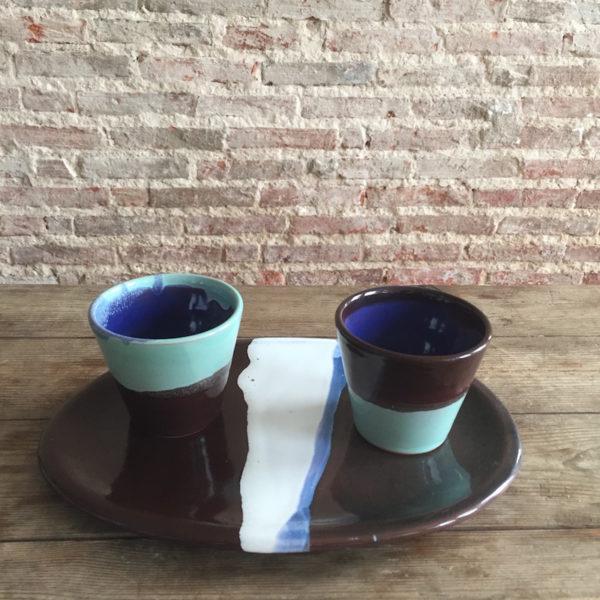 ana deman, annette van ryhsen, plat ovale, ceramique