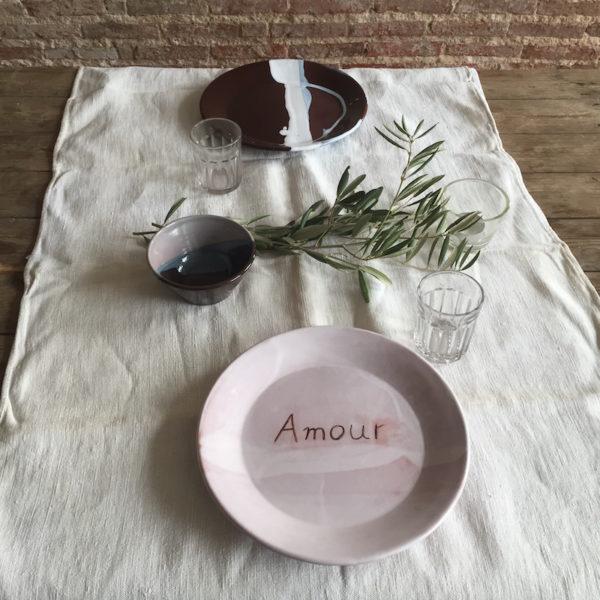 assiette, ana deman, annette van ryhsen, ceramique, fait main, amour