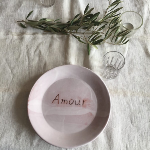 assiette, plate, ana deman, amour, annette van ryhsen