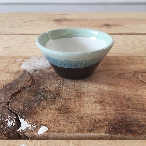 vert coupelle turquoise ceramique