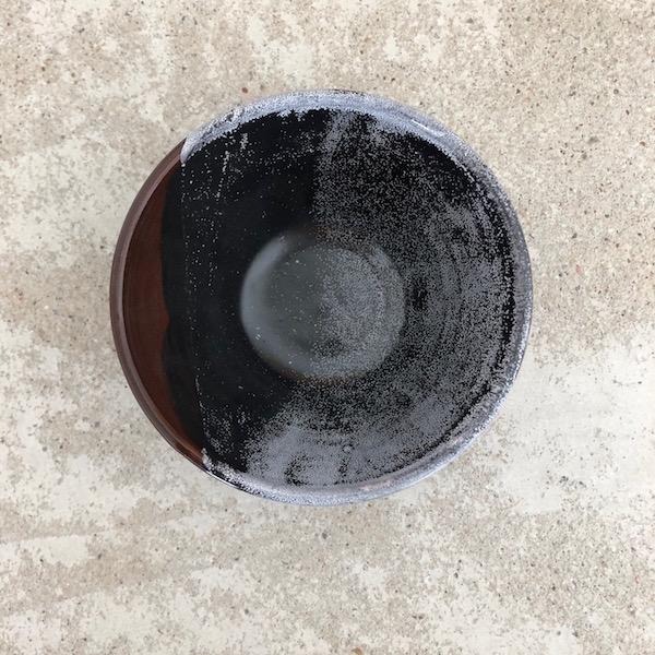 coupelle en céramique noire mat fait main en vendée