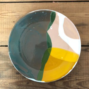 grande assiette plate ceramique vendee