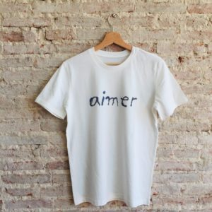 t-shirt aimer ana deman coton bio fashion vendee