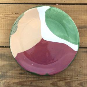 grande assiette plate en ceramique fait main en vendee
