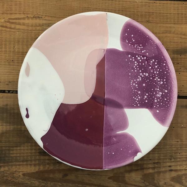 assiette plate en ceramique vendee